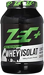 ZEC+ Whey Isolat - 1000 g, Molkenprotein Eiweißpulver, Geschmack Schoko