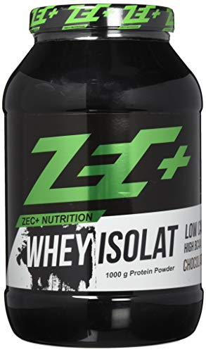 ZEC+ Whey Isolat - 1000 g, Molkenprotein Eiweißpulver, Geschmack Schoko -