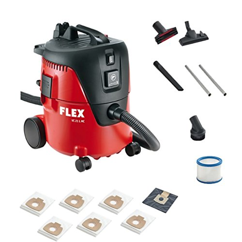 Flex Industriesauger VC21L MC 409979 + 5x Filtersack | Handlicher & kompakter Sauger inklusive vieler Extras