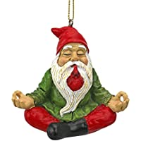 Design Toscano Christmas Ornament - Garden Gnomes Figurine - Zen Garden Gnomes - Meditating Gnome Statues - Christmas Decorations