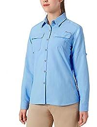 NAVISKIN Damen Bluse UPF 50+ Sonnenschutz Langarmbluse Outdoor Ultraleicht  Wanderhemd… ca3b729e12