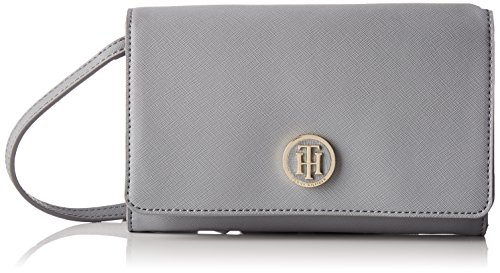 Tommy Hilfiger Damen Honey Purse Crossover Stofftasche, Grau (Sharkskin), 6 x 17 x 20 cm (Grau Crossover)