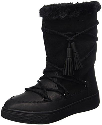 Geox D Mayrah B Abx A, Stivali da Neve Donna Nero (Black)