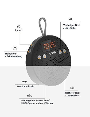 VicTsing Bluetooth Lautsprecher, Tragbarer wasserdichter Wireless Lautsprecher – Mit Bluetooth - 8