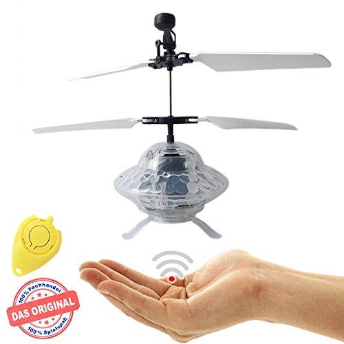 Preisvergleich Produktbild RC Fliegendes UFO - Alien - Fliegende Untertasse, Mini Drohne mit extra hellen LED Disco Lichtern!Einfach zu Steuern mit der Hand!Das Spielzeug für Jung und Alt!Der Megaspaß auf jeder Party!Der HIT auf jeder Kinderparty,Flugspiel,Astronaut,Super Hero,ET,