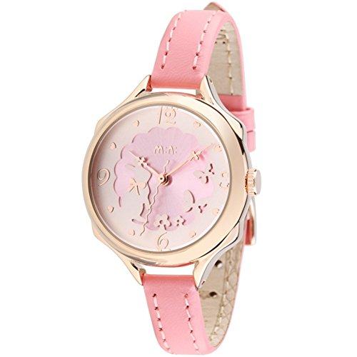 DREAMING Q&P Armbanduhr Damen Mädchen,Schöne Häschen Uhren für Studentinnen,Pink Echt Leder Rosegold Edelstahl (Edelstahl Kinder-uhr Aus)