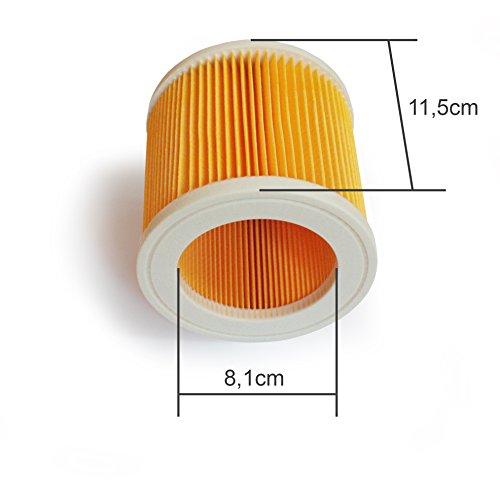 2 CARTUCCE-filtro si adatta per Kärcher WD 2 WD 3 Premium WD 3 Extension Kit WD 3