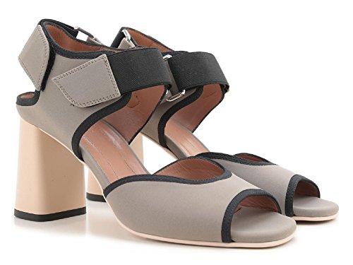 Sandali tacco alto Marni in tessuto grigio - Codice modello: SAMSU07C08 TCR86 00N26 - Taglia: 37.5 IT