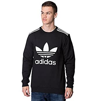 Adidas Originals Men's Retro Trefoil Basic Short Sleeve Adi Polo Neck Pique Casual Shirt Tee (M, Black)