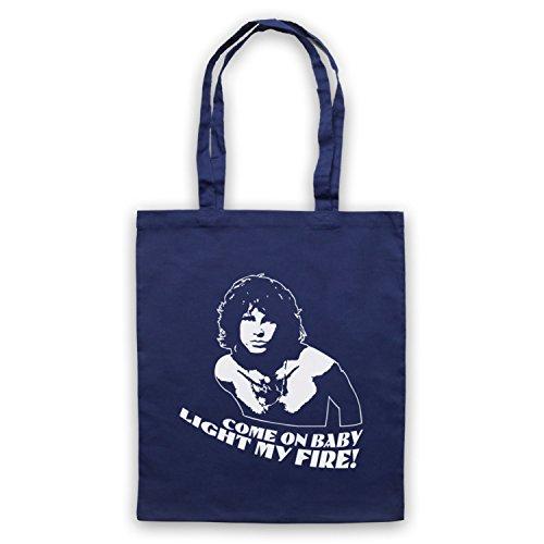Inspiriert durch Doors Jim Morrison Light My Fire Inoffiziell Umhangetaschen Ultramarinblau
