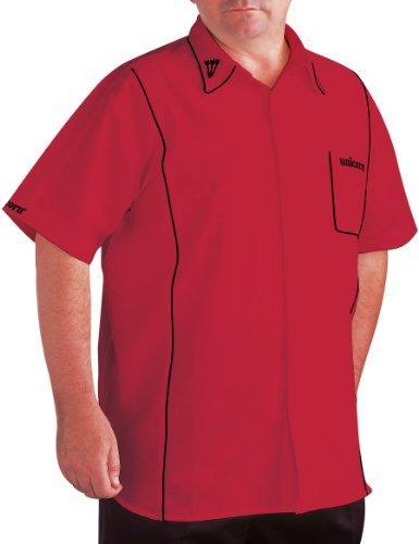 Unicorn Darts Shirt Teknik Men's - rot / schwarz