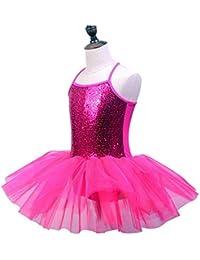 Faldas de danza para niña, Niñas con lentejuelas brillantes Camisola Ballet Vestido de tutú Sin