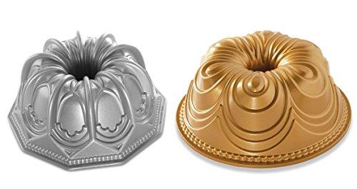 Nordic Ware Kuchenformen, Chiffon- und gewölbt, 2 Stück Original Bundt Pan