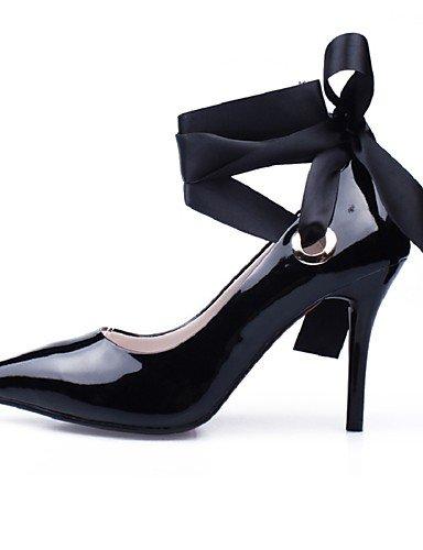 WSS 2016 Chaussures Femme-Mariage / Habillé / Soirée & Evénement-Noir / Rouge-Talon Aiguille-Talons / Bout Pointu / Bride de Cheville-Talons-Poils red-us8.5 / eu39 / uk6.5 / cn40