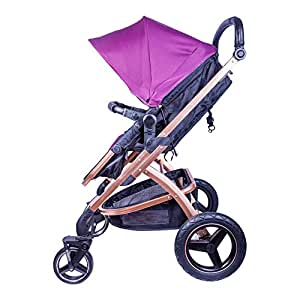 Tector Bonnie One-Click-Fold Baby Stroller / Buggy (Purple) - Pouch Series