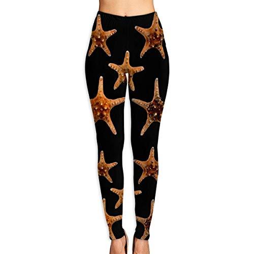 Deglogse Yogahosen, Trainingsgamaschen,Starfish Sea Shell Picture Yoga Pants for Women Sport Tights Workout Running Leggings
