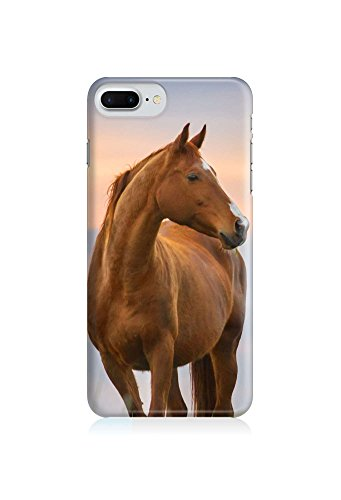 COVER Pferd braun Tier Profil Design Handy Hülle Case 3D-Druck Top-Qualität kratzfest Apple iPhone 6 6S