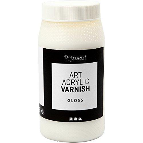 Vernice protettiva acrilica, lucido trasparente, bianco, lucido, 500ml