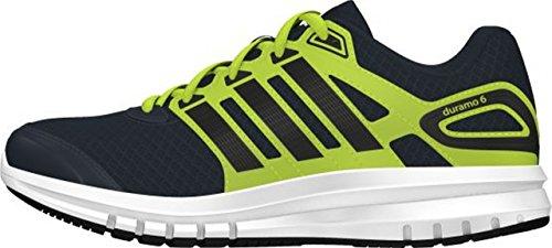 Adidas Duramo 6 Scarpe Da Corsa, Unisex Bambino dark grey/core black/semi solar yellow