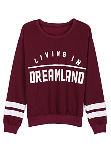 choies-womens-burgundy-dreamland-letter-print-striped-cuffs-long-sleeves-comfy-stretchy-sweatshirt-m