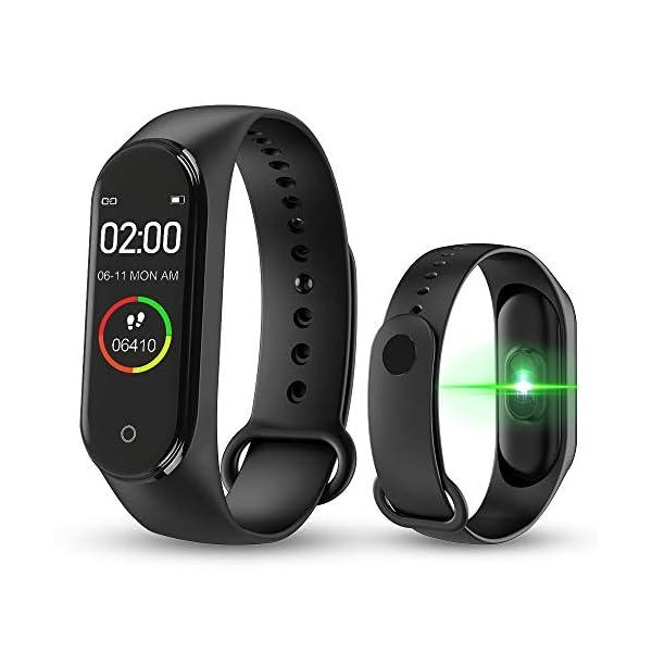 BATHRINS Pulsera Inteligente, [actualización] M4 Fitness Tracker, Impermeable Bluetooth Actividad Tracker Monitor de… 1