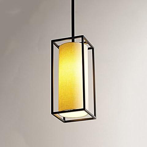Fashion Ceiling Pendant Light ,Iron Linen Shade, Modern Simple Dining Room Living Room Restaurant Bedroom Chandelier, Black ——WSHceilingLamp