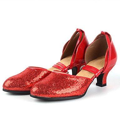 Silence @ pour femme Chaussures de danse latine talons Stiletto Talon Practise/professionnel Noir/rouge/argenté/doré noir