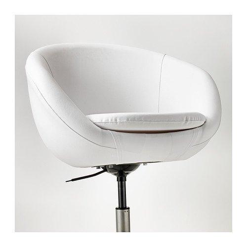 "Drehstuhl weiß ikea  IKEA Drehstuhl ""SKRUVSTA"" Schreibtisch-Sessel / Lounge-Sessel mit ..."