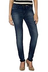 Allen Solly Womens Slim Jeans (AWDN1C00918_Dark Blue Solid_28)