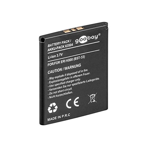goobay-cell-phone-replacemnet-battery-for-sony-ericsson-k800-replaces-bst-33-replacemnet-battery-for