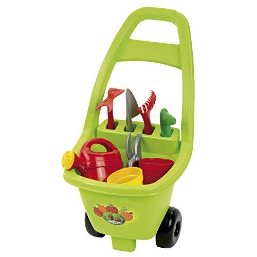 Jouets Ecoiffier -479 - Chariot de jardin et ses outils - Outillage de jardin pour enfants - Dès 18 mois - Fabriqué en France
