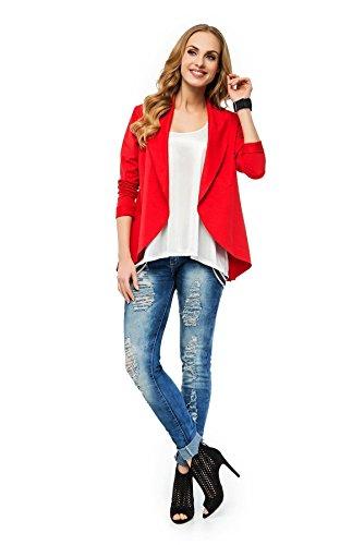 Veste Blazer en 5couleurs M226Taille S M L XL Rouge - Rouge