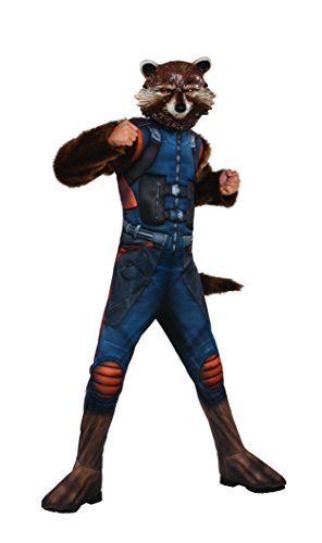 Kostüme Maske Raccoon Kinder Rocket (Offizielles Rubie 's Guardians Of The Galaxy 2, Starlord Kinder Deluxe Kostüm Medium)