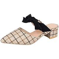 Sandalias Mujer Verano 2018 Casual �� Sandalias Moda Mujer Damas Mocasines de Punta Cuadrada Zapatos Casuales Zapatos de la Sandalia