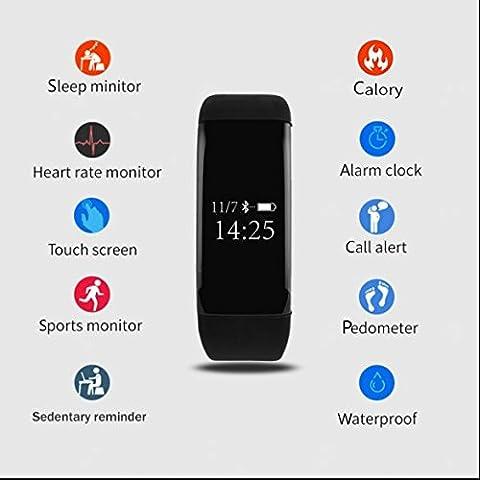Armbänder für MP3-Player,Bluetooth Smart Uhr mit Schrittzähler/Schlafanalyse etc,Herz/Puls-Monitor fitness Watch,Armbanduhren für Herren