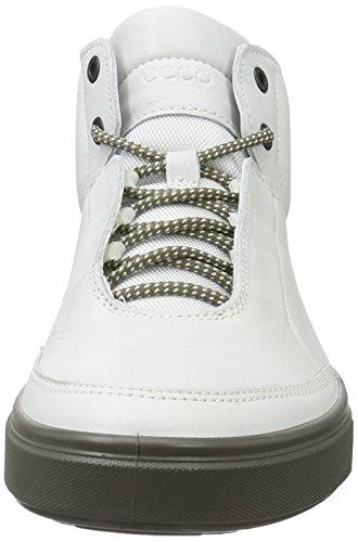Ecco Kyle, Sneakers Hautes Homme Blanc (52292White/Shadow White)