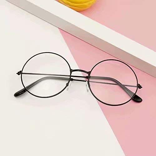 Doyime Retro Runde Brille Mit Fensterglas Damen Herren Brillenfassung