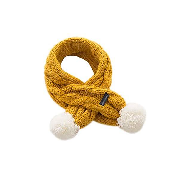 Xuxuou 1 Pieza de Invierno De Bufandas con Bola Caliente de Bufanda para Bebé Bufanda de Lana Tejida a Mano size 68cm*8… 1