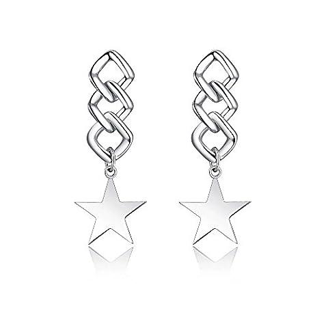 TARDOO 925 Sterling Silber Ohrringe Frau Mode-Trend Spirale Nettogewicht 4,96 g Pentagon Schmuck