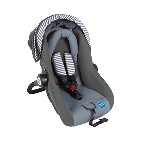 Mee Mee Baby Car Seat Cum Carry Cot with Thick Cushioned Seat & Head Support (Grey)