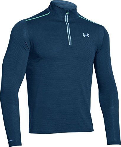 under-armour-streaker-t-shirt-manches-longues-1-4-zip-homme-blackout-navy-fr-xl-taille-fabricant-xl