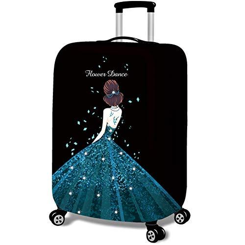 MISSMAO_FASHION2019 Kofferhülle Koffer Abdeckung Kofferbezug Luggage Gepäck Cover Kofferschutzhülle Mädchen im Kleid Drucken Style4 M(Fit 22-24 Zoll Koffer)