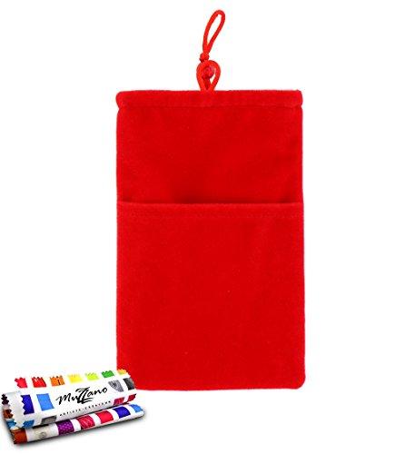 Original MUZZANO Cocoon, per Apple iPhone 5S, colore: rosso - Original Style Velour