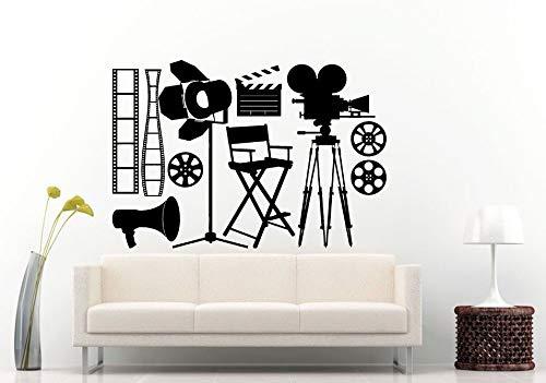 Vinyl Wall Sticker Kamera Spot Light Wall Mural Movie Kino Dekoration Film Making Tools Vinyl Wallpaper Film Vinyl Art 83x57cm (Kino-dekorationen)