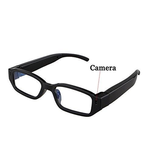 Electro-Weideworld 720P HD Spy Brille mit versteckter Kamera, Spy Cam Brille, Kamera-Brille, Camcorder Brille Spion Kamera