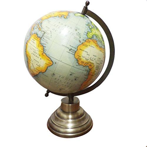 Imlistreet Globo Decorativo Giratorio para Oficina, geografía de Globo político del Mundo, diseño de Globo oceánico