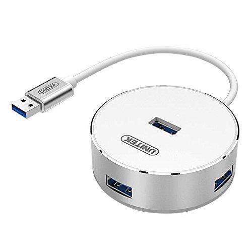 Unitek Y-3197WH Aluminium 4X USB 3.0 Hub Schwarz