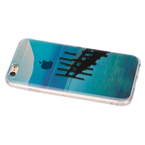 Felfy Hülle für iPhone 6,iPhone 6S Case Crystal Hülle Klare Ultradünne Silikon Gel Schutzhülle Durchsichtig Muster Kristall Transparent TPU Silikon Schutz Handy Hülle Case Tasche Etui Bumper für Apple Fähre Case