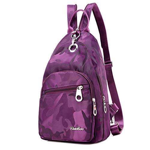Vertikale Nylon Rucksack (YYFRB Rucksack Leinwand Licht Wasserdicht Nylon Umhängetasche Mini Multifunktions Brusttasche Lila Schwarz Und Andere 4 Farben Optional Rucksack (Color : Purple))