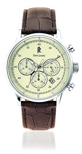Pierre Lannier 224G194 - Reloj de pulsera hombre, piel, color marrón